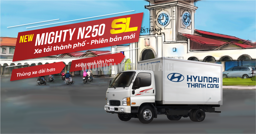 New Mighty N250SL mui bạt