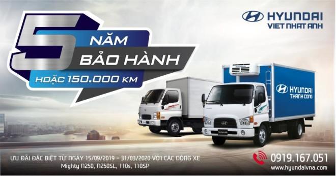 Chương trình bảo hành xe tải Hyundai